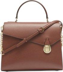 calvin klein iris top handle satchel