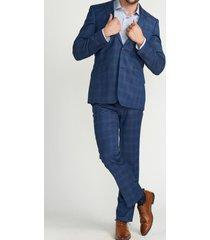traje formal cuadros azul medio perry ellis