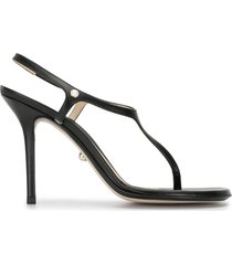 alevì roxy thong strap sandals - black