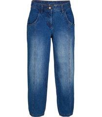 jeans cropped extra larghi con cinta regolabile (blu) - bpc bonprix collection