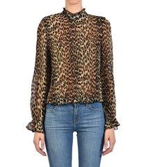 plissè leo blouse