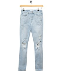 men's topman polly blowout ripped skinny fit jeans