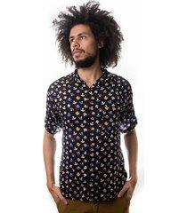 camisa andy roll clothing amanita preta - kanui