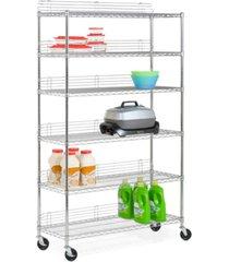 honey can do 6-tier wheeled shelving unit