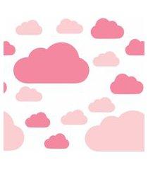 adesivo de parede nuvem rosa gráo de gente rosa