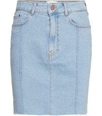 uma hw denim skirt kort kjol blå second female