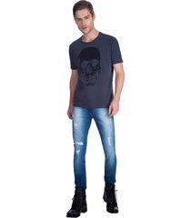 t-shirt caveira guess - preto - masculino - dafiti
