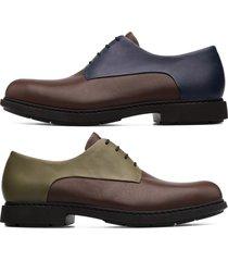camper twins, scarpe formali uomo, marrone/blu/verde, misura 46 (eu), k100240-006