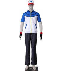 pokemon ash ketchum cosplay costume hat hoodie gloves 3rd generation