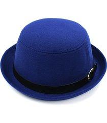 cappello da donna vintage pure colour woolen solid little dome british retro cap