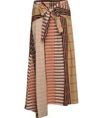 hanneiw ilsa skirt knälång kjol brun inwear