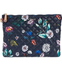 mz wallace metro water resistant quilted pouch - blue