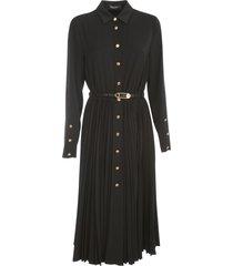chemisier dress w/pleated skirt
