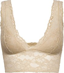 pclina lace bra top noos lingerie bras & tops soft bras beige pieces