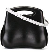 chanel pre-owned 1999's structured shoulder bag - black