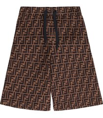 fendi ff motif shorts