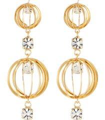 'blues' sphere cage crystal drop earrings