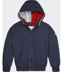 chaqueta essential ligera azul tommy hilfiger