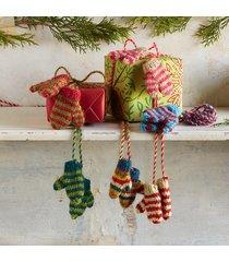wonderland mittens on a string, set of 3