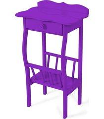 mesa lateral apoio sala revisteiro roxo - roxo - dafiti