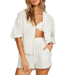 billabong all good button-up shirt, size large in salt crystal at nordstrom
