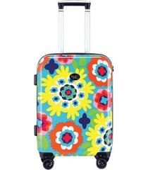 "french bull printed 20"" hardside carry-on spinner"