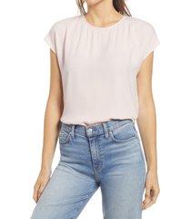 women's halogen cap sleeve blouse, size x-large - pink