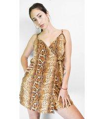 vestido animal print alojuana