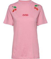 everyday tee - two cherry t-shirts & tops short-sleeved rosa svea