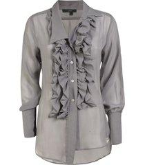 jejia ruffled detail blouse