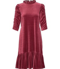 marion dress knälång klänning röd odd molly