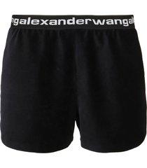 alexander wang strech corduroy shorts w/logo elastic