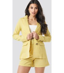 trendyol yol pocket detailed jacket - yellow