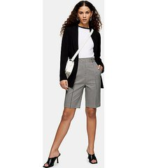 black and white houndstooth bermuda shorts - monochrome