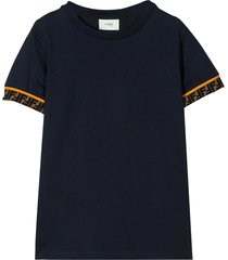fendi blue navy t-shirt teen