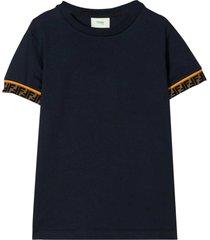 fendi blue navy t-shirt