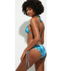 print bikini bottom - blue - l