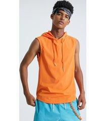 basics koyye camiseta sin mangas lisa informal con capucha para hombre