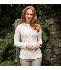 the ardara cable sweater cream xl