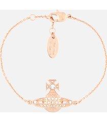 vivienne westwood women's minnie bas relief bracelet - pink gold crystal