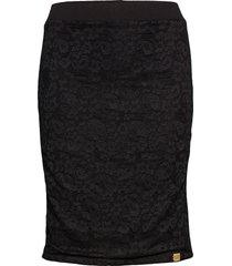 blake lace midi skirt knälång kjol svart superdry