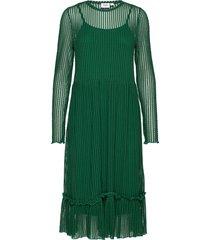 t6551, striped lace dress jurk knielengte groen saint tropez