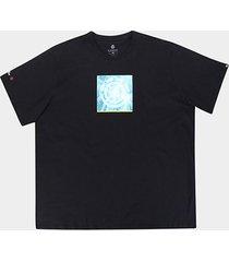 camiseta element solvent icon plus size masculina