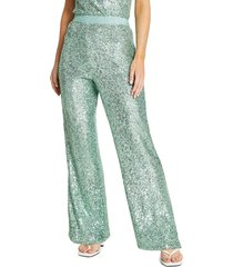 river island sequin trousers, size 4 us in light green at nordstrom