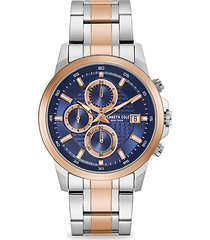 dress sport two-tone stainless steel bracelet watch