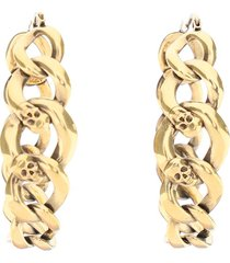 alexander mcqueen chain hoop earrings