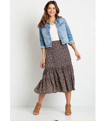 maurices womens ditsy floral midi skirt