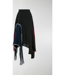 jw anderson asymmetric panelled skirt
