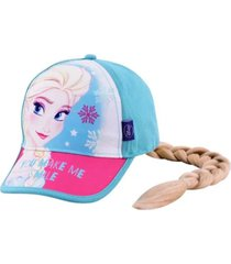 gorra celeste footy frozen con trenza funny store