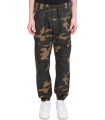 carhartt pants in camouflage cotton
